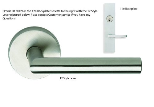 (Omnia D12012 US32D A Keyed Entry Brushed Stainless Steel)