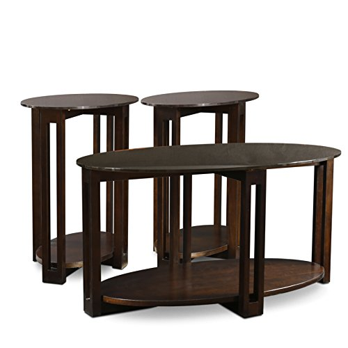 oval coffee table set of 3 - 7