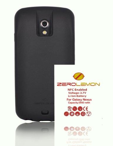 ZeroLemon-Samsung-Galaxy-Nexus-5900mAhBlack-Full-Edge-Wrap-TPU-Case-with-180-days-Zero-Lemon-Guarantee-Warranty-Compatible-with-Verizon-SCH-i515-Sprint-SPH-L700-ONLY-WORLDS-HIGHEST-CAPACITY-GALAXY-NEX