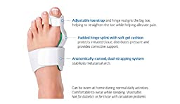 PediDoc™ Bunion Relief – Bunion Corrector and Hinged Bunion Splint with Hallux Valgus Bunion Pad Toe Straightener to Realign Toes