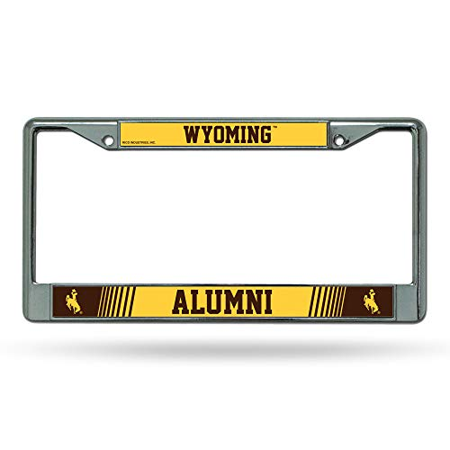 Rico Industries NCAA Wyoming Cowboys Standard Chrome License Plate Frame