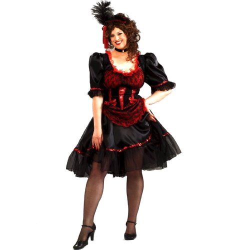 [Forum Novelties Saloon Girl Costume, Red, Standard Size] (Womens Western Costumes)