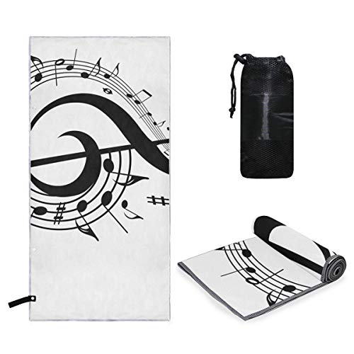 Microfiber Sports Towel Music Idioms Extra Large Super Absorbent and Quick Dry Towels for Yoga Pilates Gym Travel Hiking Camping Swimming Beach Outdoors]()