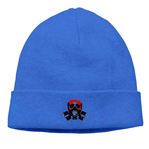 Gas Masks Knitted Cap Trendy Warm Chunky Soft Stretch Cable Knit Slouchy Beanie Hat