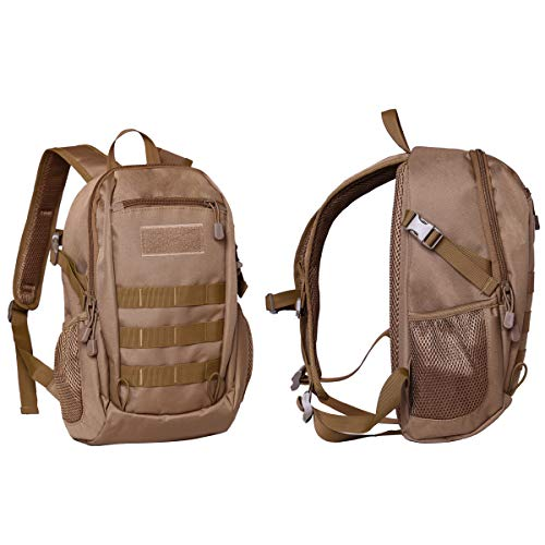 30c672fc09f4 BondFree Casual Daypacks Military Small Backpack Mini Purse Tactical  Daypacks Student Backpack For Camping Hiking Travelling Shopping (Brown)