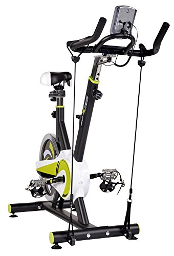 Body Xtreme Fitness Lime Green/Black Exercise Bike, Home Gym Equipment, 40lb Flywheel, Resistance Bands, Water Bottle + BONUS COOLING TOWEL by Body Xtreme Fitness USA (Image #4)