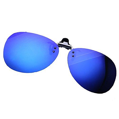 Vert de Up lunettes LVZAIXI conduire Voyager Flip verres polarisés soleil la plastique aviateur verres pour de pêche sur Clip Couleur Bleu en qqznvwR4