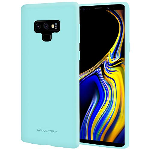 Galaxy Note 9 Case, [Silky] GOOSPERY [Slim Fit] Soft Feeling [Flexible] Rubber TPU Case [Lightweight] Bumper Cover [Protection] for Samsung Galaxy Note 9 (Mint) NT9-SFJEL-MNT