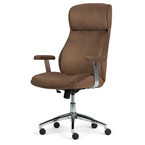 (Simpli Home AXCOCHR-05 Melbourne Swivel Adjustable Executive Computer Office Chair in Chocolate Brown)