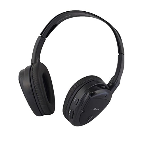 Wireless Dual Channel IR Headphone with Zippered Hard Storage Case Vission - Male Pictures Models In Usa