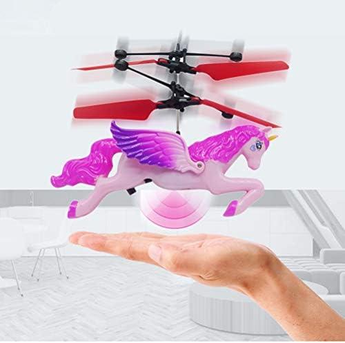 Licorne Volante Jouet Mini RC Volant Hélicoptère Jouet Main Contrôle Drones pour Enfants Garçons Filles Cadeau Danniversaire