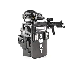 Battle Brick SWAT Police Officer Pointman (SKU50) Custom Minifigure