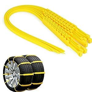 CLCC Chaînes à Neige pour pneus 20 pièces Antidérapantes Portable Facile à Monter Traction d'urgence Voiture Chaines de…