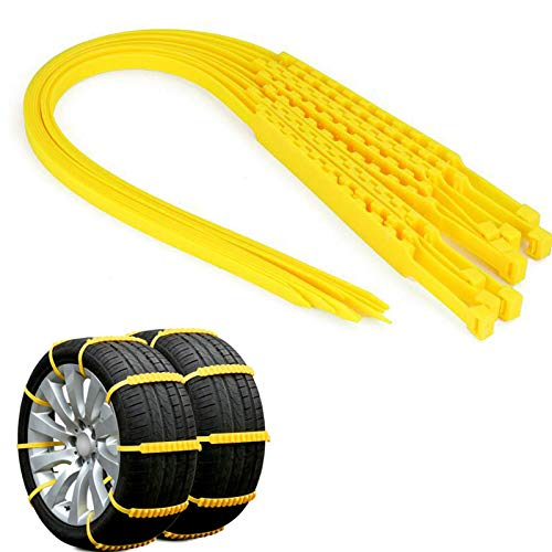 MASO Snow Chains 10Pcs Anti-Skid Snow Chains for Tyres Portable Easy to Mount Emergency Traction Car Snow Tyre Chains Universal for Tyres Width 145-295mm