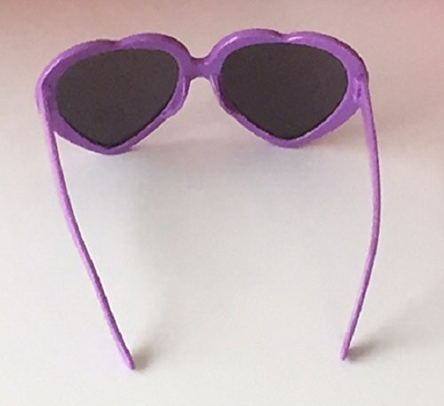 plástico sol con de mujer de corazón forma wiBille de Gafas Morado para qFwEXn6xZI