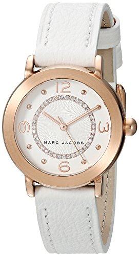 Marc by Marc Jacobs Women's MJ1618 Riley Analog Display Analog Quartz White Watch