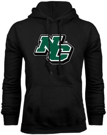 Small Nichols College Black Fleece Hoodie N