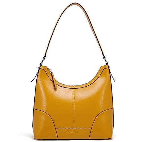 (BOSTANTEN Women Leather Handbag Designer Hobo Shoulder Bag Tote Purses)