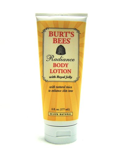 Burt's Bees Radiance Body Lotion With Royal Jelly, 6-Ounce Tubes (Pack of 2)
