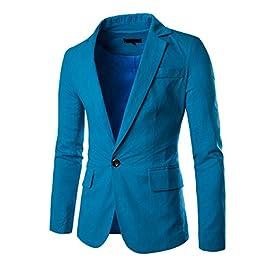 Men's Linen Blazer Lightweight Casual Slim Fit Sport Coat