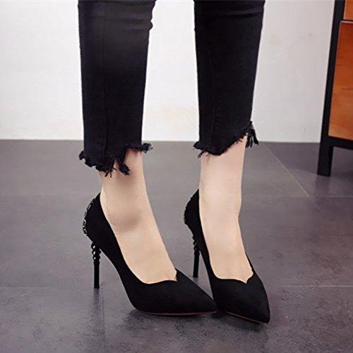 FLYRCX personalidad Primavera sexy y de gules moda zapatos tacón delgada Verano zzrFW4pS