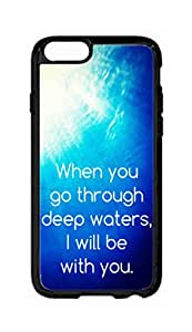 """RainbowSky iPhone 6 Plus (5.5"""" Inch) Case - Isaiah 43 2 When You Go Through Deep Waters I Will Be With You Hard Plastic Back Protection Phone Case Cover -1400"""