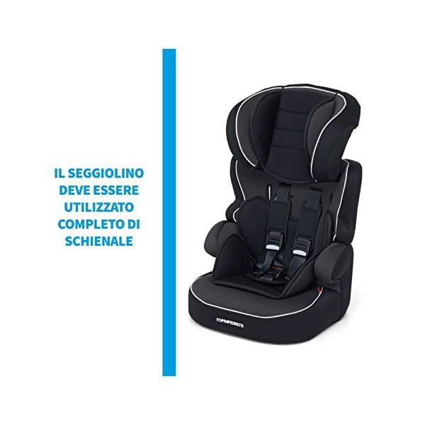 Foppapedretti Babyroad - Seggiolino Auto, Gruppo 1-2-3 (9-36 Kg) per Bambini da 9 Mesi a 12 Anni Circa, Nero (Noir) 6