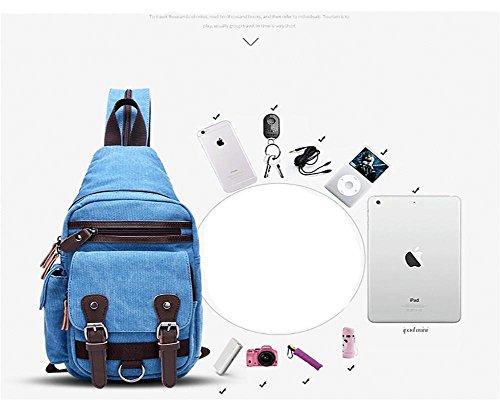 Paquete Bolso 27 Usable Paseo cofre capacidad Lienzo Hombro de del Hombros Viajar 8 37 Transformable de cofre blue mensajero Hombres Gran Paquete black XwZ0UqxpX