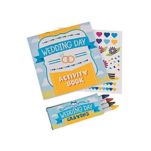 Wedding Activity Kits for Kids (24 Kits): Treat Bags, Coloring Books ...