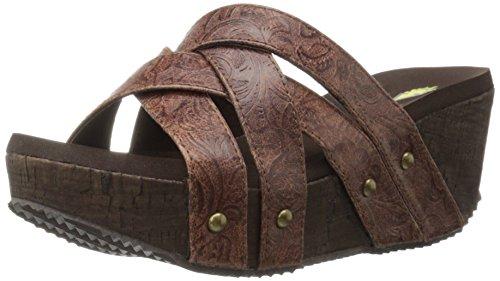 (Volatile Women's Jumper Wedge Sandal, Brown, 7 B US)