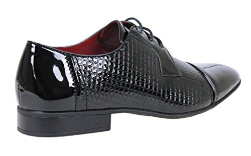 Chaussures Hommes Classe Brillant Noir Peinture Mans Chaussures Élégante Ligne Classique Cérémonie