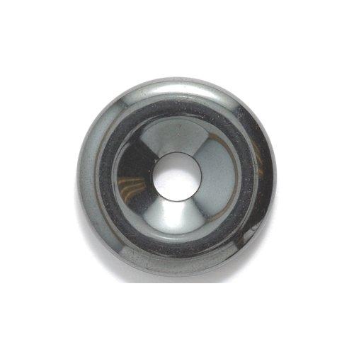 Shipwreck Beads Focal Hematite Donut 25-mm, 9-Piece/Pack ()