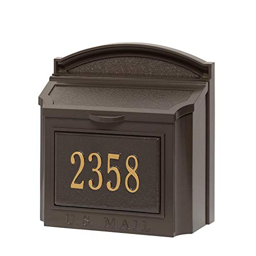 (16104 Aluminum Wall Mailbox Package in Bronze)