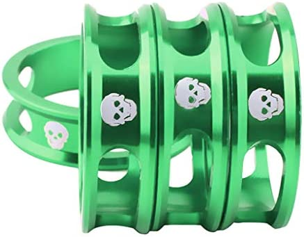 Baosity アルミ合金自転車ステムヘッドセットスペーサー4点 1 1/8インチステムに適合 MTBマウンテンバイクロードバイク固定ギア 10mm サイクリングパーツ