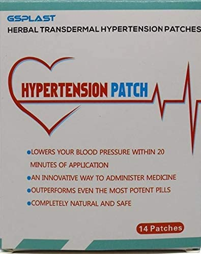 14 Patches Herbal 100/% Natural Lowering Blood Pressure Heat transdermal Patch for Hypertension 1 Box