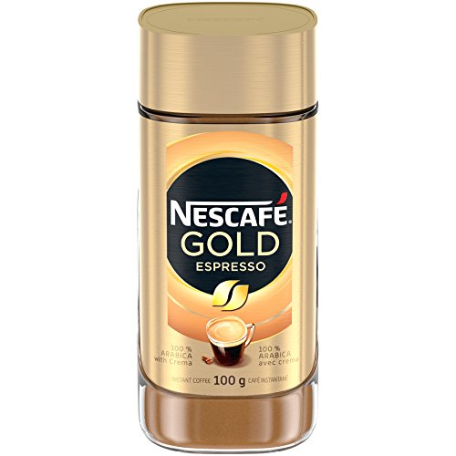 NESCAFÉ Gold Espresso Instant Coffee, 100 g Jar - Imported from - Instant Espresso Nescafe
