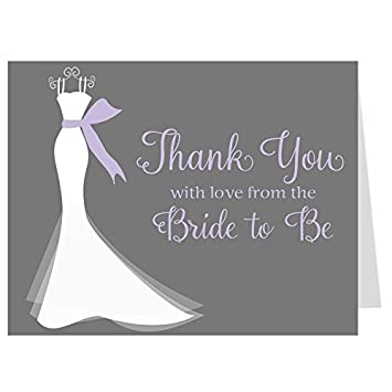 amazon com bridal shower thank you cards wedding dress simple