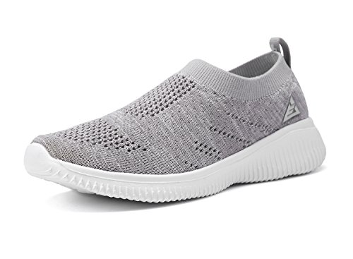 ALLY BELLY Boys Girls Walking Shoes Comfortable Casual Shoes Slip on Sneakers for Toddler Little Kid(7.5 M US Toddler, Grey) ()