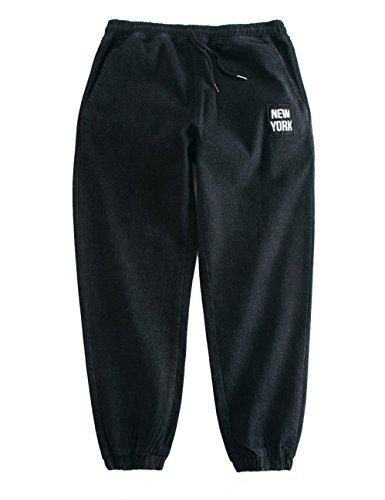 HOLLAGLEE New York Design Loose Fit Jeans Hip Hop Baggy Pants For Boys and Men (Black 630, XXXL)