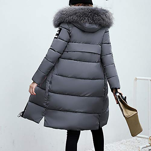 Solid Thicker Slim Casual Overcoat Women's Coat Gray Winter Sleeve Lammy Long Down Jacket XOWRTE wqBHSx