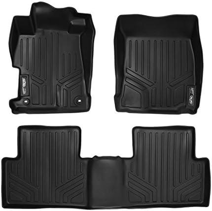 SMARTLINER Custom Fit Floor Mats 2 Row Liner Set Black for 2012-2015 Honda Civic Sedan (No EX or Si Models)