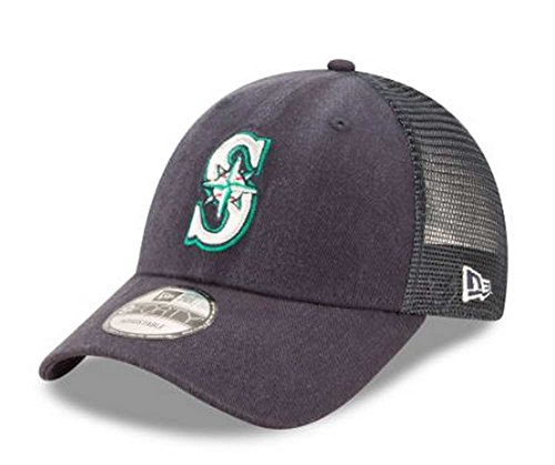 New Era MLB Seattle Mariners Trucker 9Forty Adjustable Baseball Hat 940 11591192 ()