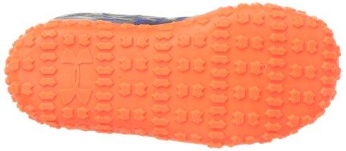 Under Armour Boys' Clutchfit Road Hugger Sneaker, Midnight Navy (410)magma Orange, 9k