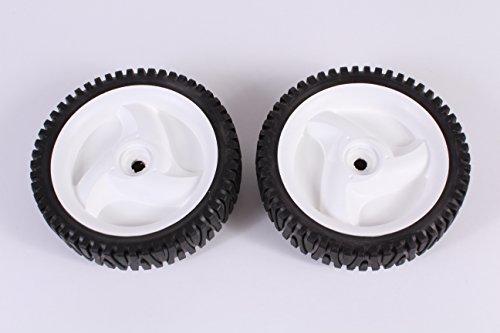 - Set of 2 Husqvarna OEM Lawn Mower Front Wheel Tire 532403111 194231x427