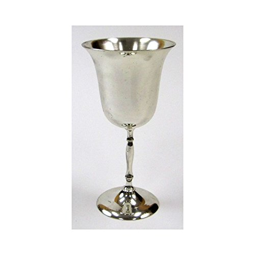 Brass Goblet, Silver Plated II - Nautical Decor