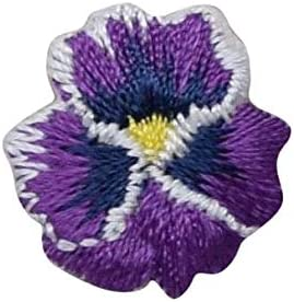 4 options Fabric Iron-on Appliques for Craft /& Apparel Projects Pansies