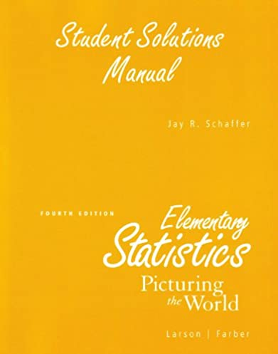 amazon com student solutions manual for elementary statistics rh amazon com Textbook Instructor Manuals Scholars Manual