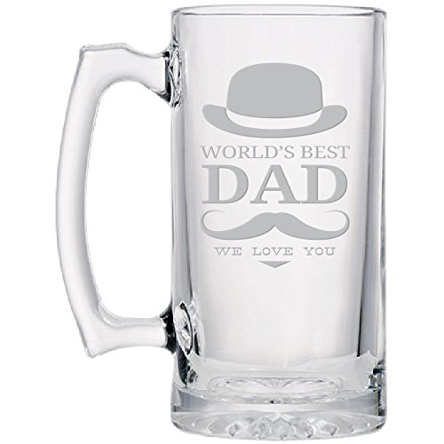 Best-Dad-Glass-Beer-Sports-Mug-Hand-Engraved-Jumbo-265-oz