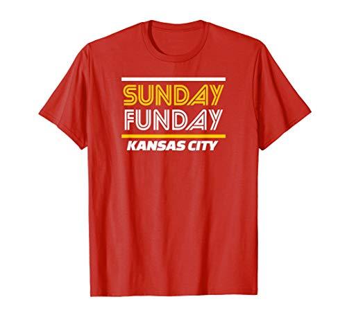 KC Sunday Funday Cool Kc Super Football Tailgate Fan Gear T-Shirt