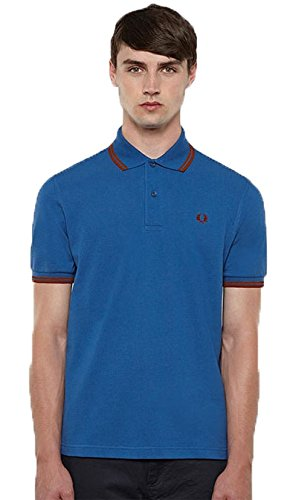 Fred Perry Polo Azul Custom Fit (S): Amazon.es: Deportes y aire libre